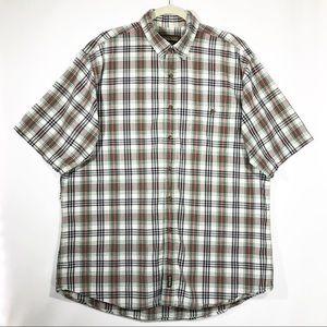 Woolrich Tartan Short Sleeve Button Front Shirt